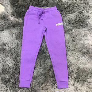 Puma Girl's Sweat Pants | Purple | Size M (7/8)